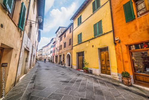 Fototapeta Elegant street in Buonconvento