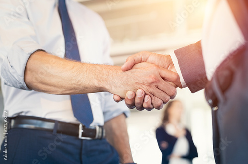 Fridge magnet Businesspeople shaking hands