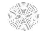 Abstract geometric vortex, Circular swirl lines, fingerprint. Vector illustration - 171769344