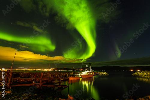 Fotobehang Noorderlicht Aurora Borealis in Tromsø