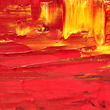 Red oil painted texture - 171784718