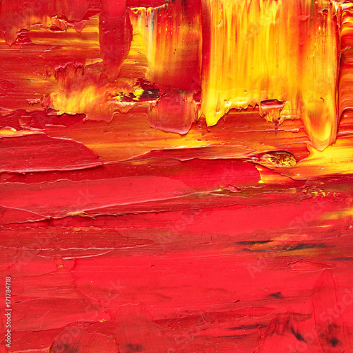Red oil painted texture
