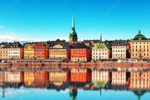 Fotobehang Stockholm Old Town in Stockholm, Sweden