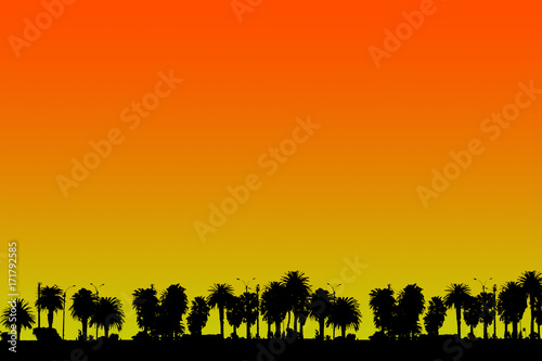 Foto op Canvas Rood Tropical Summer Background