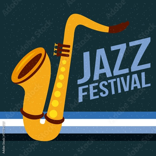 jazz festival poster music event invitation vector Illustration