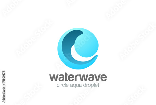 Circle Sphere Wave Logo abstract vector Water drop Logotype icon