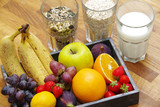 Joghurt mit Früchten und Kernen