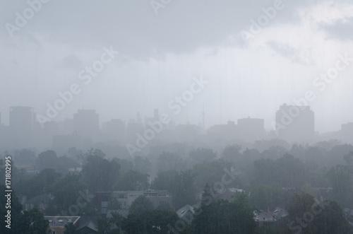 Spoed canvasdoek 2cm dik Toronto Rain storm over Toronto