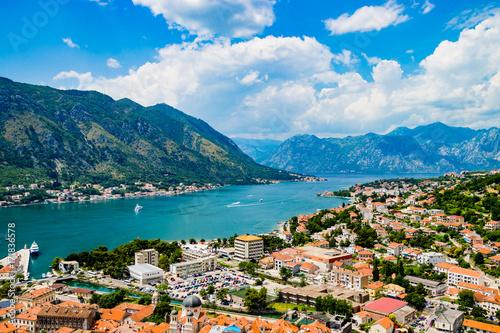 Aluminium Magnificent view of Kotor Montenegro