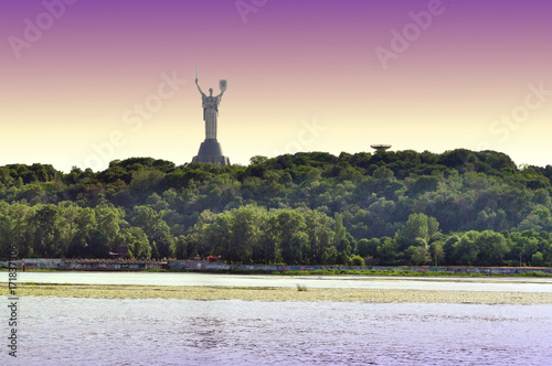 Foto op Canvas Kiev Motherland Monument in Kiev, Ukraine.