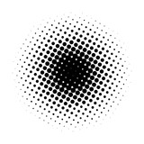 Circle gradient halftone dots background. Pop art template, texture. Vector illustration.