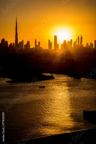 Dubai sunset Poster