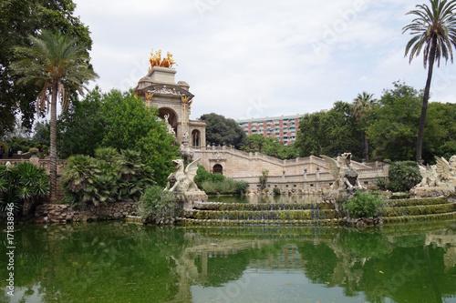 Monument De La Cascade de Barcelone, Espagne