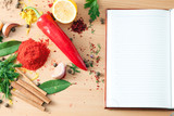Ingredients and notebook - 171839301