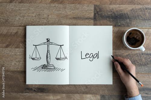 Fototapeta LEGAL CONCEPT