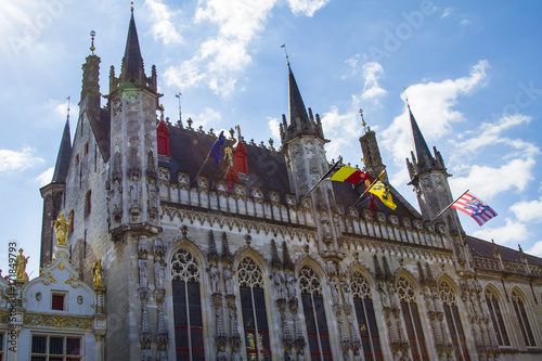 Spoed canvasdoek 2cm dik Brugge Bruges, Belgium