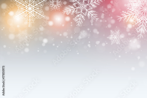 Poster Christmas background with snowflakes