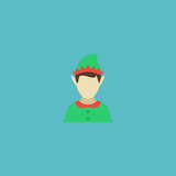 Flat Icon Gnome Element. Vector Illustration Of Flat Icon Elf Isolated On Clean Background. Can Be Used As Gnome, Elf And Character Symbols.