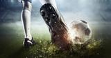 Fototapeta Sport - Soccer goal moment. Mixed media © Sergey Nivens