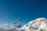 Cable car in Mallnitz, an Austrian ski resort below Ankogel peak. - 171869760