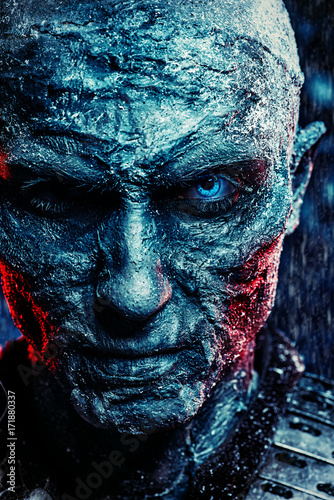 zombie covered with snow Poster