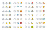 Set Vector Flat Line Icons London