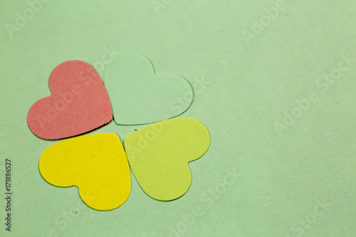 Four Hearts Leaf Clover Poster