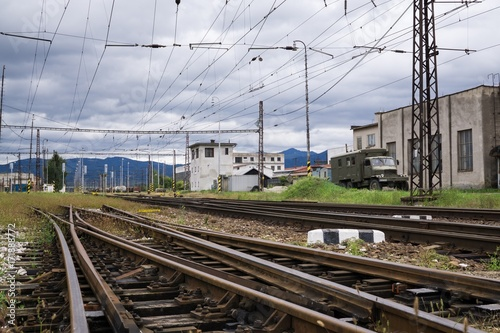 Fotobehang Kiev Railways