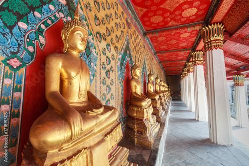 Foto op Canvas Boeddha Wat Pho Temple in Bangkok.