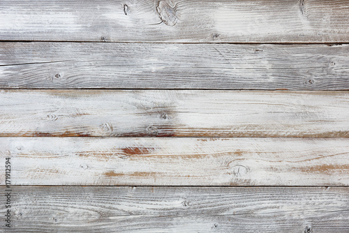 Reclaimed weathered white painted wooden boards - 171912594