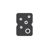 Sponge icon vector, filled flat sign, solid pictogram isolated on white. Symbol, logo illustration. - 171917708