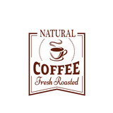 Coffee cup label for food and drink design