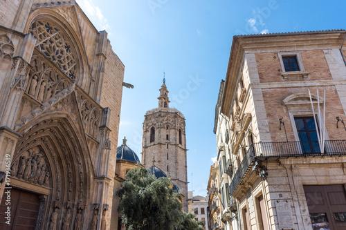 Cathédrale et Micalet au centre de Valence, Espagne