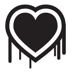 Heart Bleed Vector Illustration
