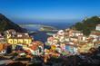 Vista panorámica de Cudillero ,Principado de Asturias, España