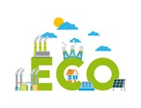 set of icons representing ecology environment renewable energies nature conservation vector illustration - 171942786