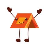kawaii touristic camping tent cartoon image vector illustration - 171945782
