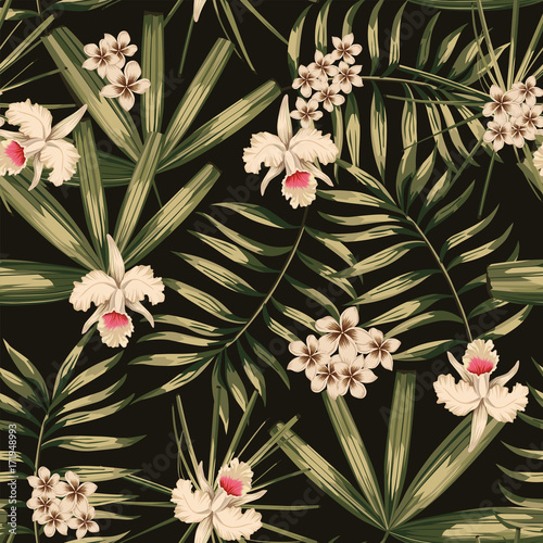 Retro tropical seamless pattern
