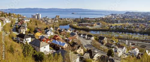 Fototapeta Panorama of Trondheim