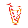 fast food glass cup cola drink bubbles vector illustration