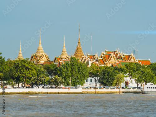 Grand Palace Chao Phraya River in Bangkok, Thailand Poster