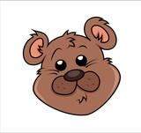 Cute Teddy Bear Face Expression - clip-art vector illustration