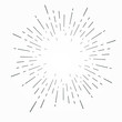 Vintage hand drawn sunburst vector illustration