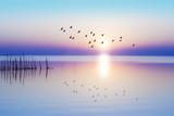 amanecer sobre el mar en calma - 171985179