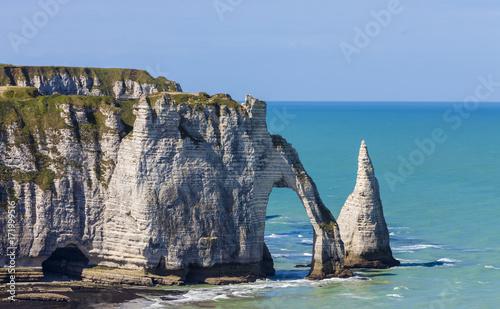 Fotobehang Landschappen Cliffs of Etretat, Normandy,France
