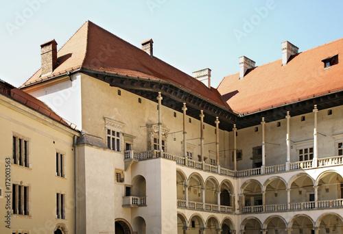 Foto op Plexiglas Krakau Courtyard of Wawel castle. Krakow. Poland