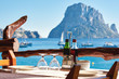 Outdoors restaurant. Ibiza Island, Balearic Islands. Spain