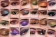 Collage of close up photos of eye make-up