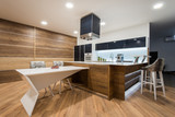 Modern wooden kitchen interior - 172008193