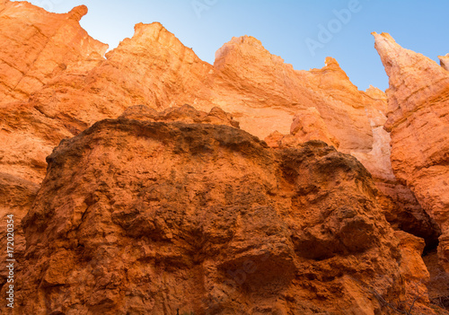 Staande foto Oranje eclat Bryce Canyon National Park, Utah, Hoodoos, Spires Pinnacles, Red Rock